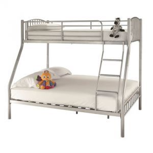 Oslo 3ft and 4ft 6 Three Sleeper Bunk Bed Silver