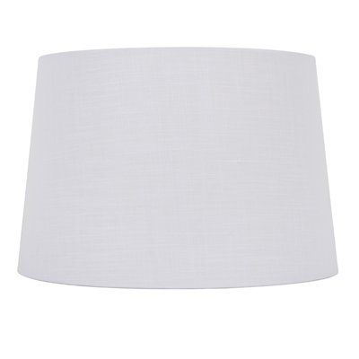 Allen Roth Lamp Shade Sh2154 10 In X 15 In White Linen Fabric