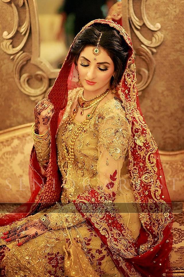 10bea777cd Best Bridal Barat Dresses Designs Collection 2016-2017 | StylesGap.com Pakistan  Bride,