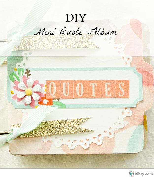 DIY Mini Quote album instructions