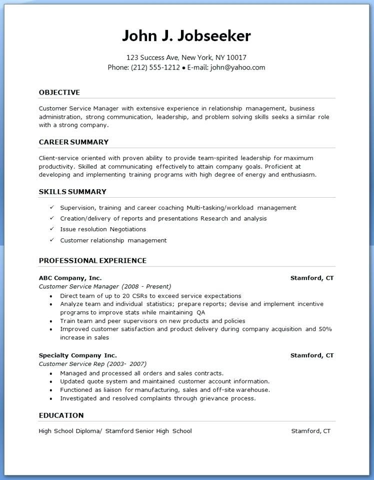 Word Template For Resume Free resume template word