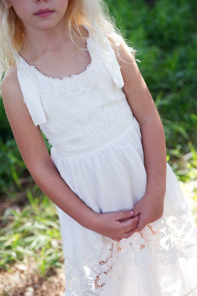 Poppy Dress in off white/ ivory