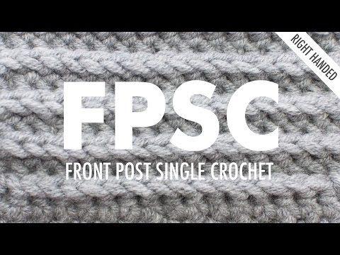 The Front Post Single Crochet :: Crochet :: New Stitch a Day