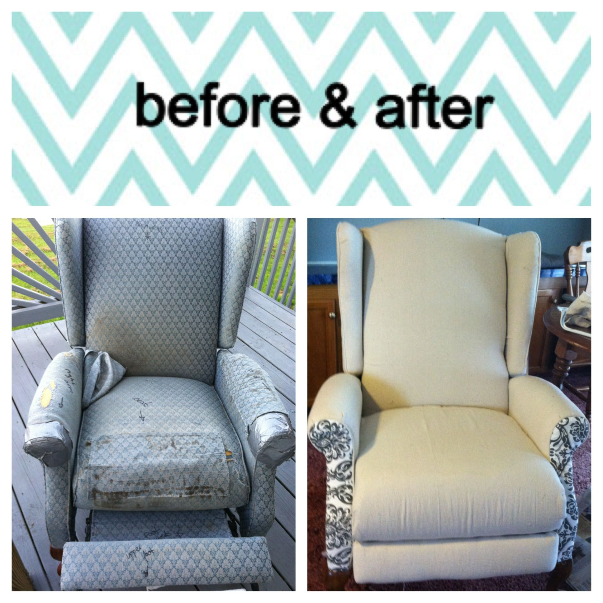 Reupholstered Recliner From The Curb Total Cost For Project 22