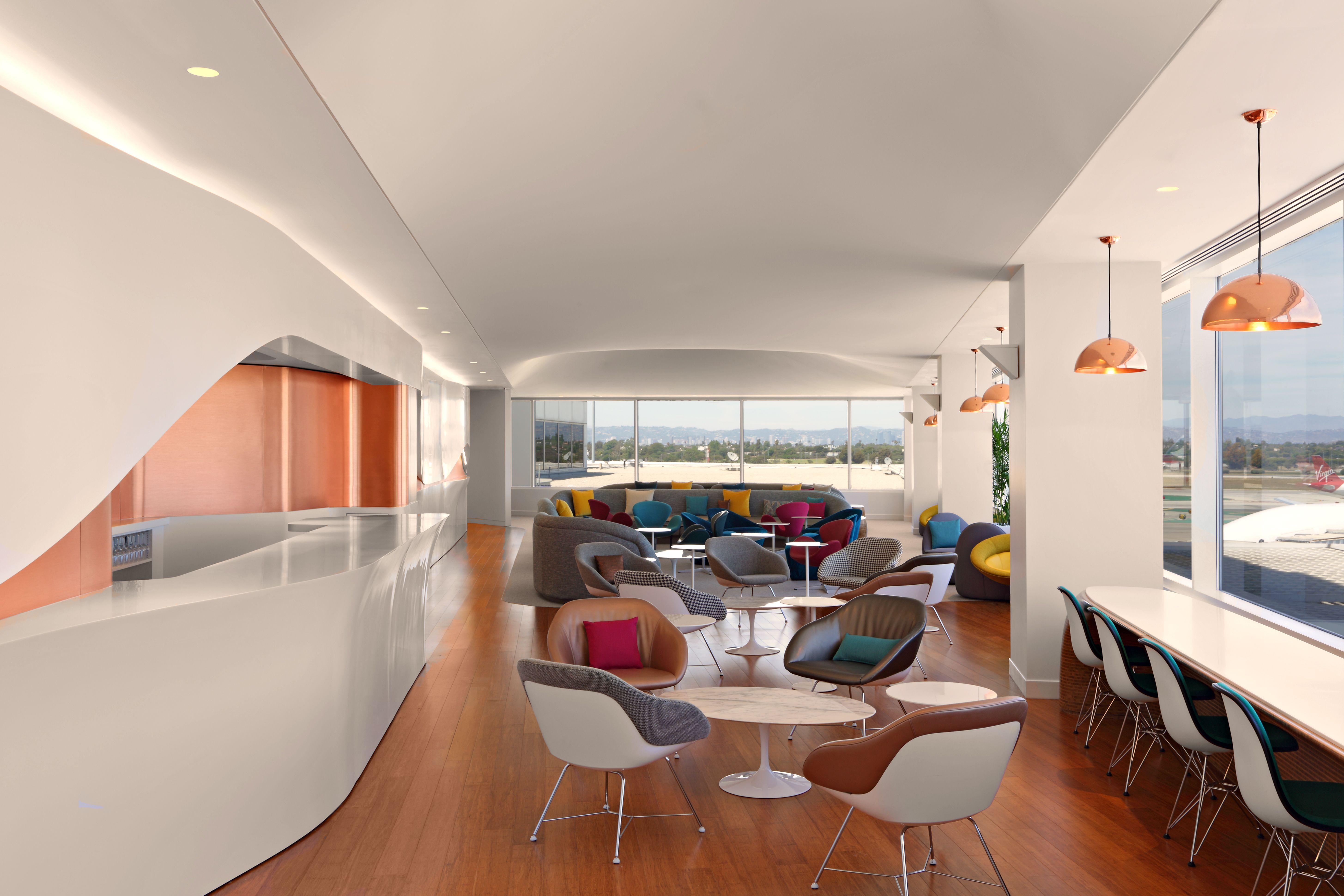 Kgm Architectural Lighting Virgin Atlantic Lax Clubhouse Lounge Virgin Atlantic Club House Lounge Design