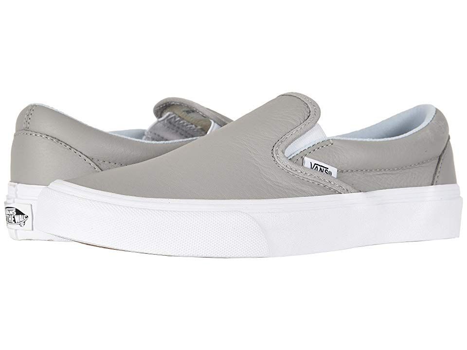 9123ad1e49 Vans Classic Slip-Ontm ((Leather) Oxford Drizzle) Skate Shoes. The ...
