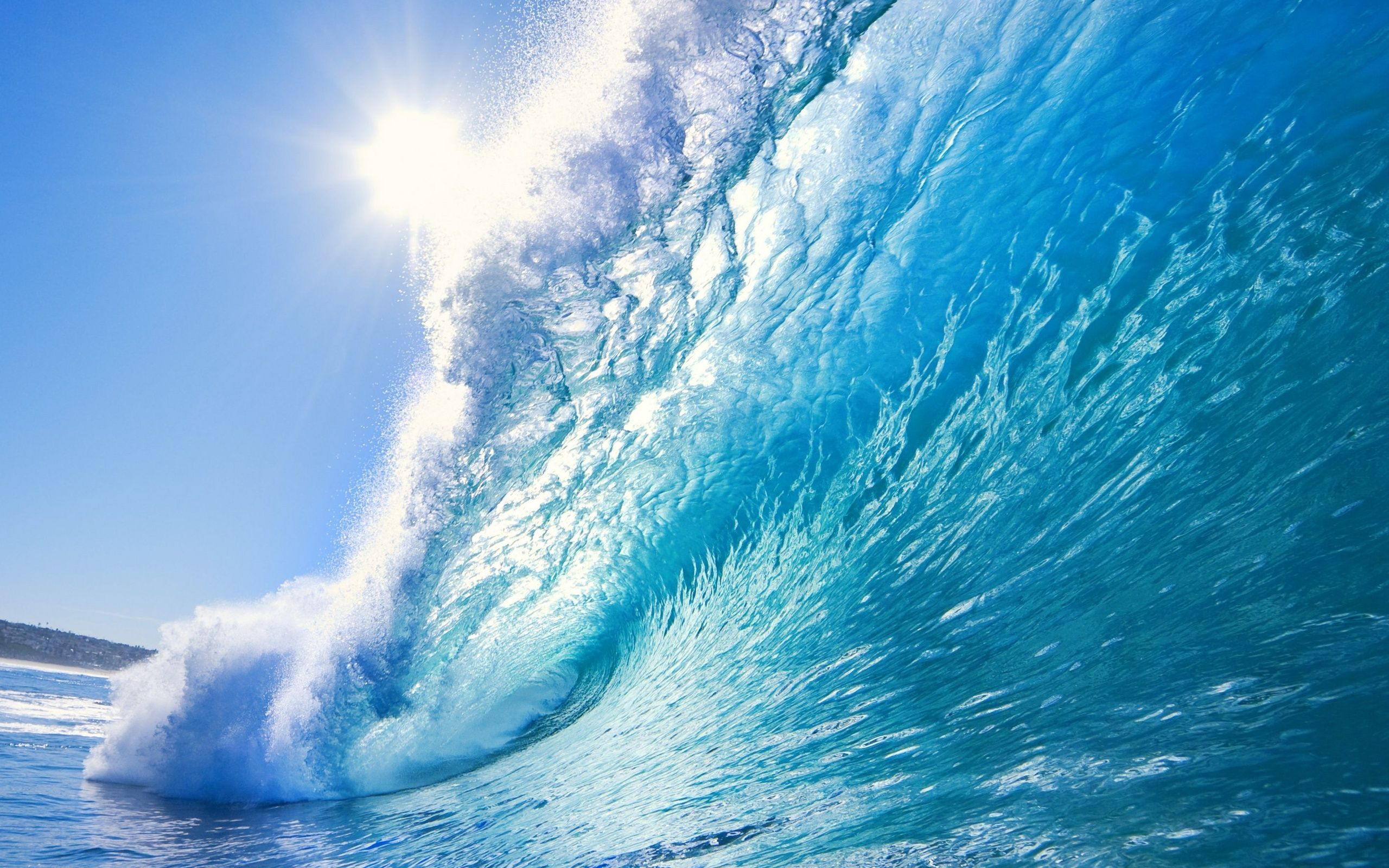 computer desktop wallpaper a· the clear blue wave