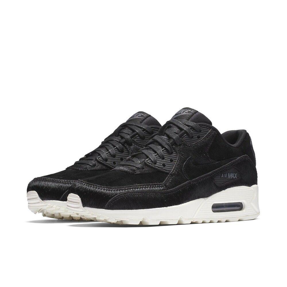173a11f1b7442 Nike Air Max 90 LX Womens Running Shoes Black Dark Grey Sail - Nike ...