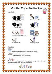 English worksheet cupcake recipe english classes pinterest english worksheet cupcake recipe forumfinder Images