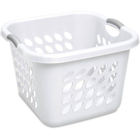 Sterilite 1 5 Bushel 53 L Ultra Square Laundry Basket White