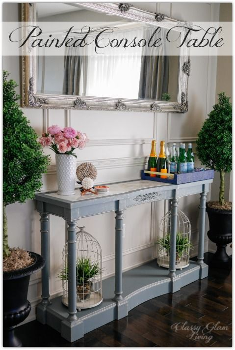 French Blue Painted Console Table | Classy Glam Living