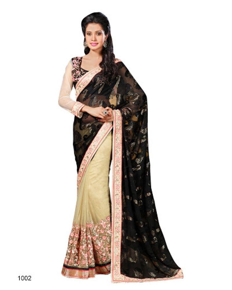 Stutti Fashion Exclusive Black Color Saree At Rs.2099
