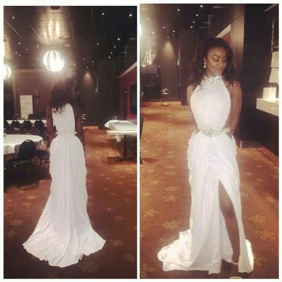 White Goddess Prom Dress | Goddess prom dress, White gowns and Dress ...