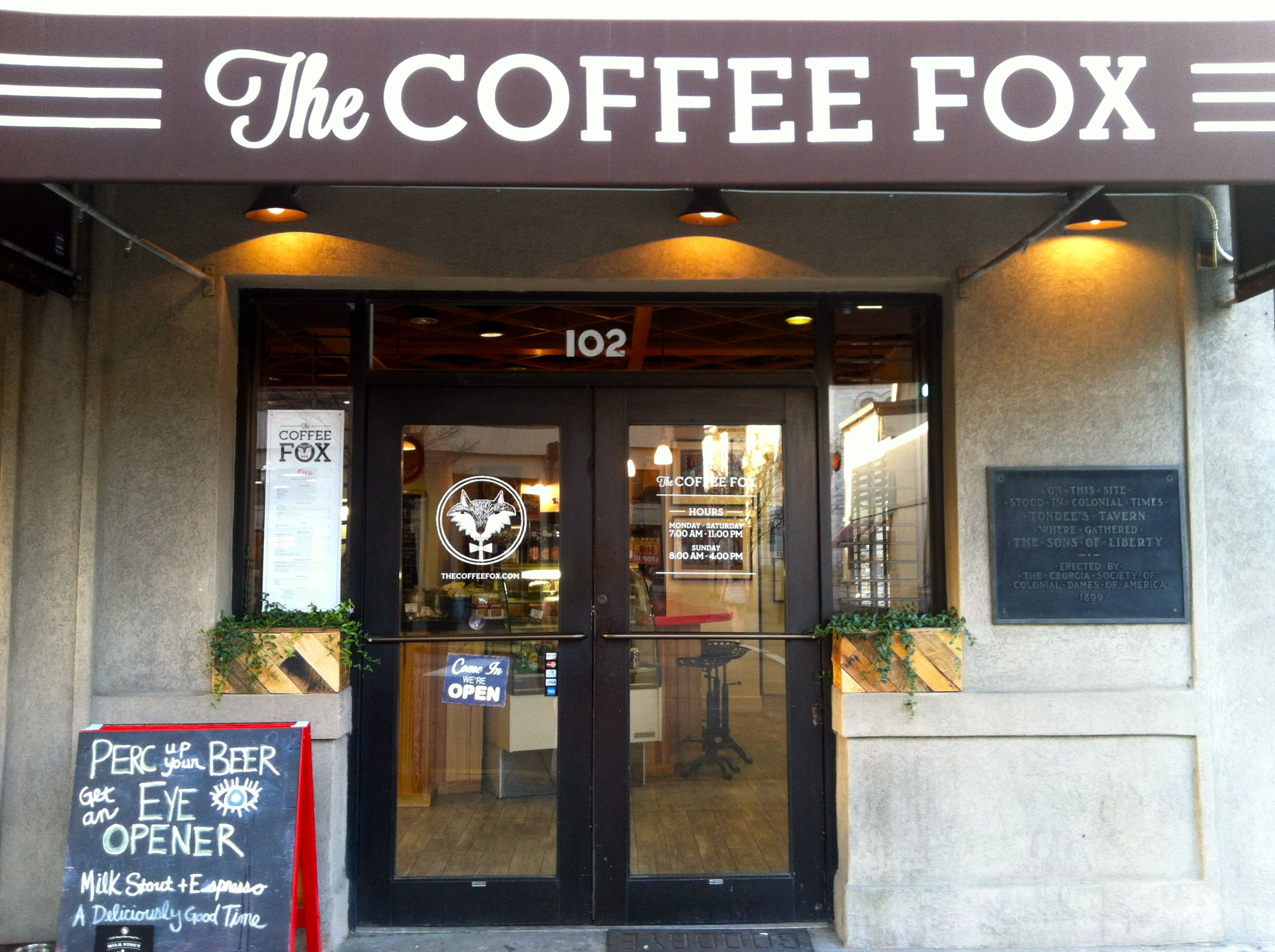 the coffee fox in savannah ga savannah eats pinterest chats