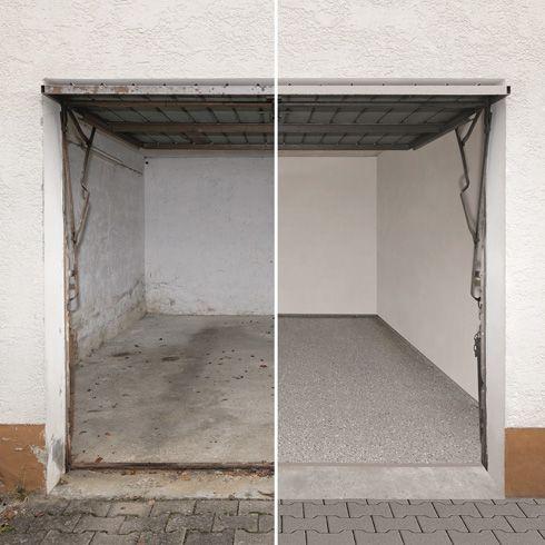 ein angegriffener garagenboden l sst sich mit komplettsystemen f r die bodensanierung beheben. Black Bedroom Furniture Sets. Home Design Ideas