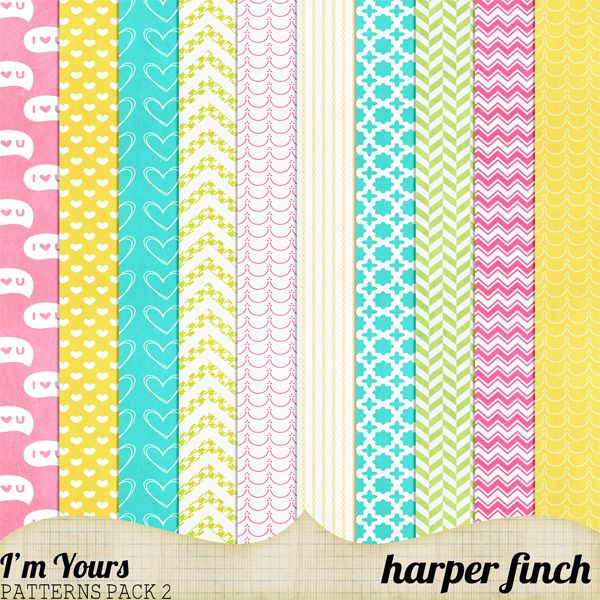 I'm Yours Patterns Pack Two by harperfinch deviantart com on