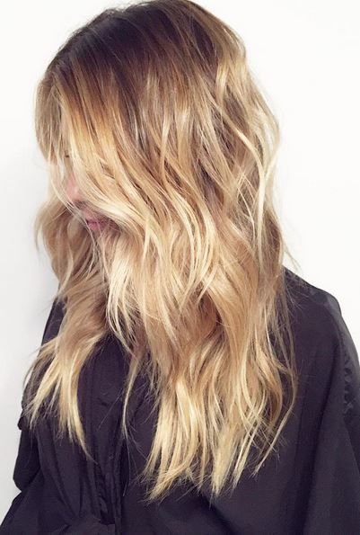 A meld of butterscotch, caramel, and honey tones. Is this dessert or hair color? ;) Color by Tracy Vasquez.