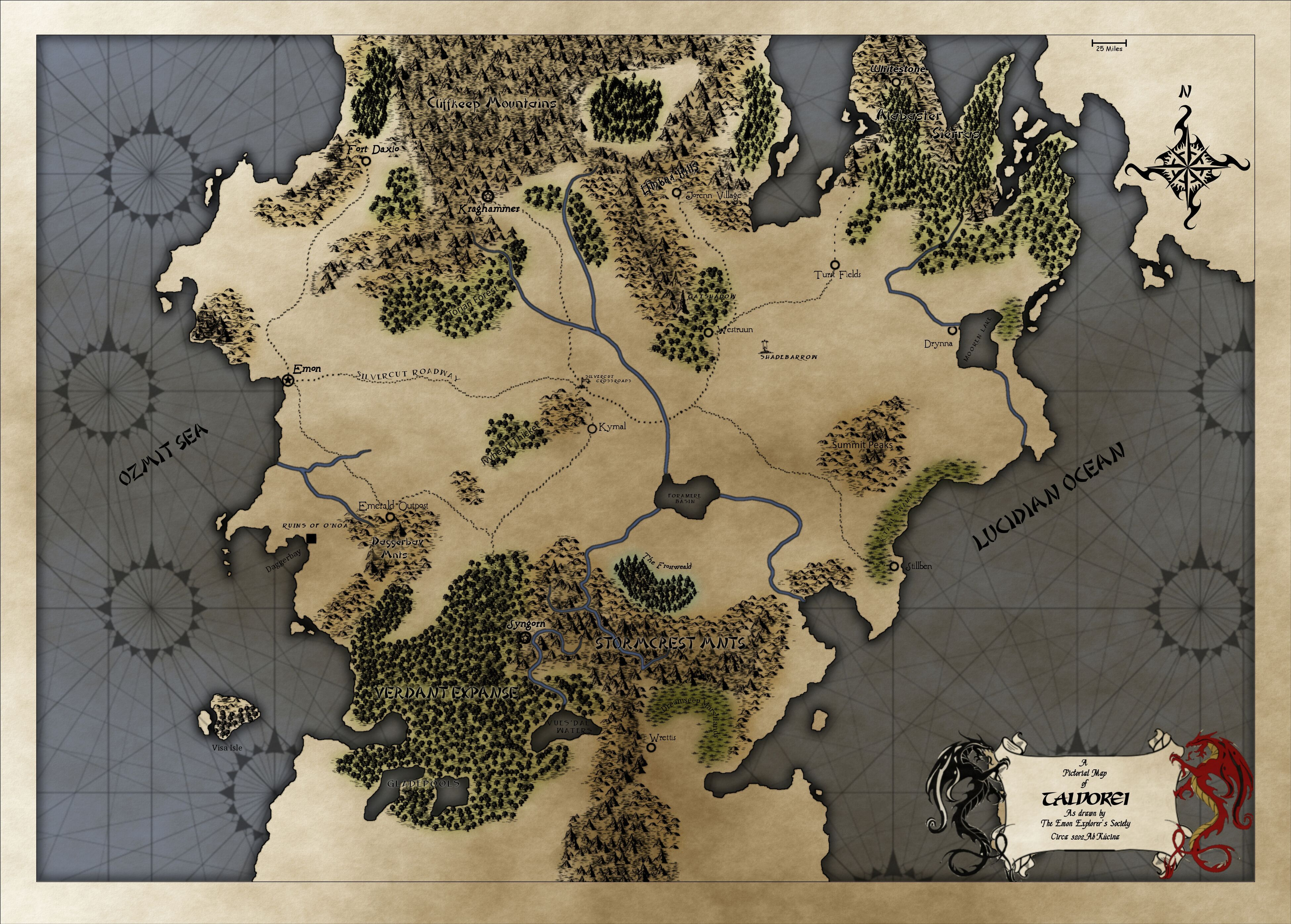 Critical Role World Map Map of Tal'Dorei from Critical Role's campaign (With images
