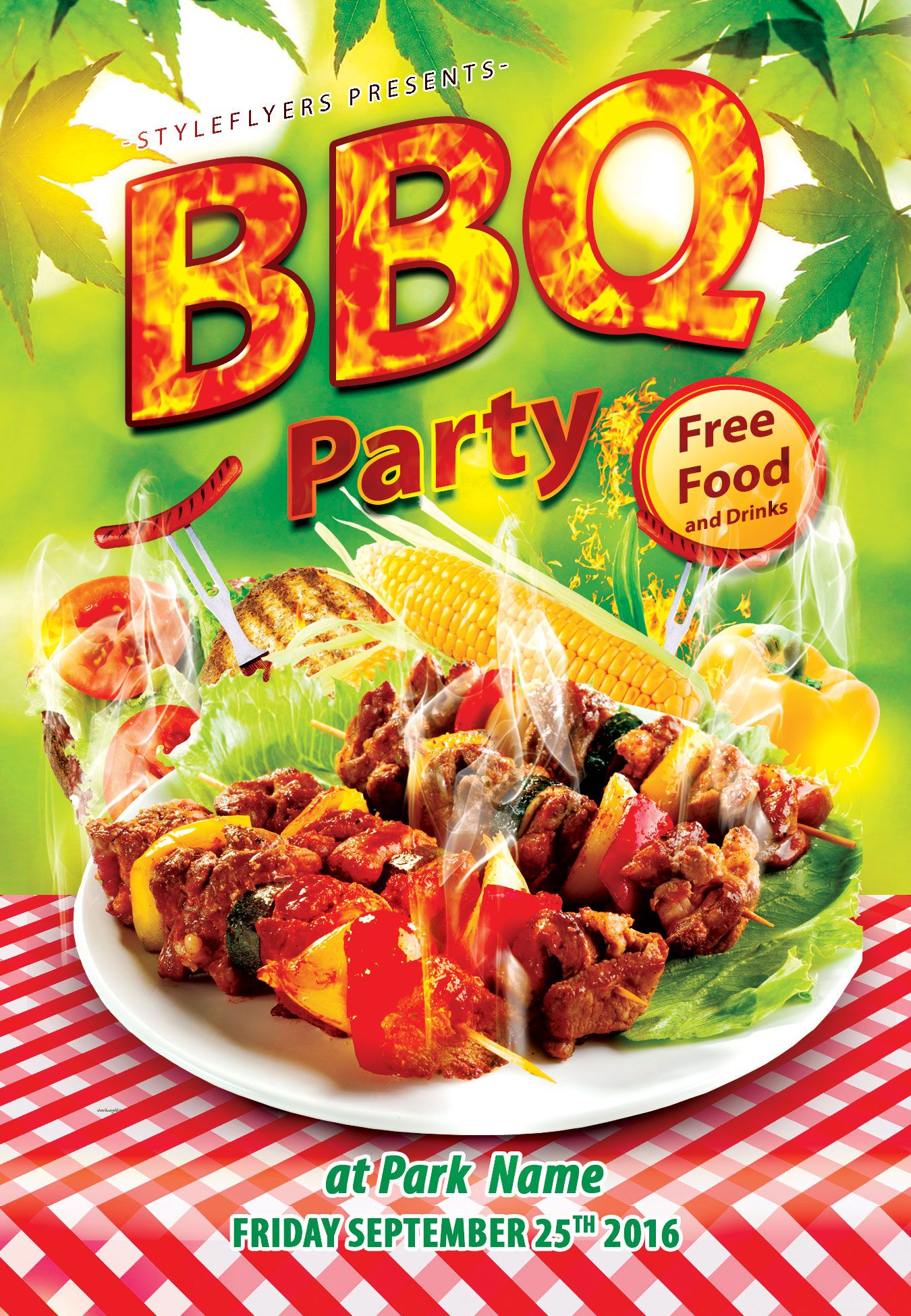 Download Our Free Bbq Flyer Psd Template And Organize Great Party