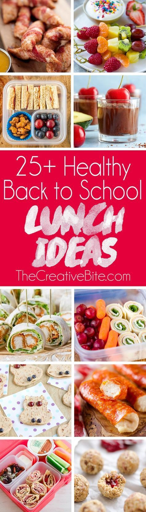 25+ Healthy Back to School Lunch Ideas are perfect for your children's packed lunches. Healthy treats and sweets to light meals and easy snacks. #schoollunchideasforkids