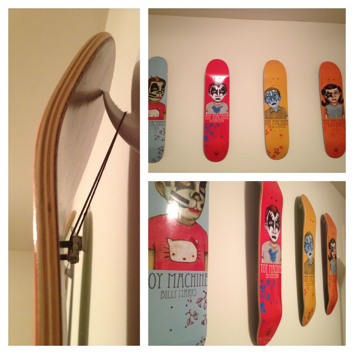 How To Hang Skateboards Measure And
