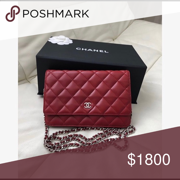 6a1318b0daed Chanel WOC Wallet on Chain Chanel Wallet on Chain in red lambskin leather  with silver hardware,perfect condition,comes with a dustbag&box ! CHANEL  Bags Mini ...