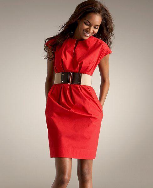 3f1679a9928f Cotton Twill Tuck Dress