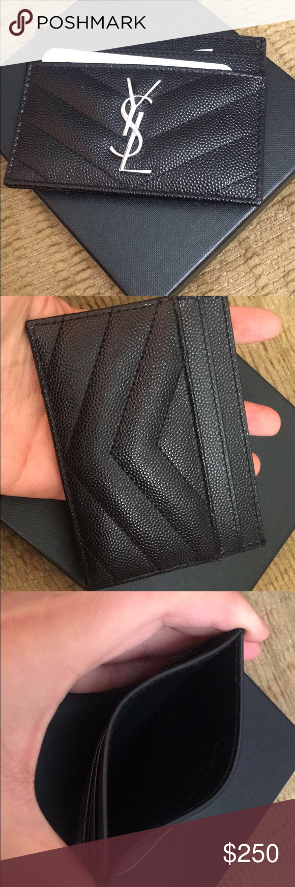 c79431a91ef Ysl card holder Authentic YSL card holder brand new come with box Yves  Saint Laurent Accessories Key & Card Holders