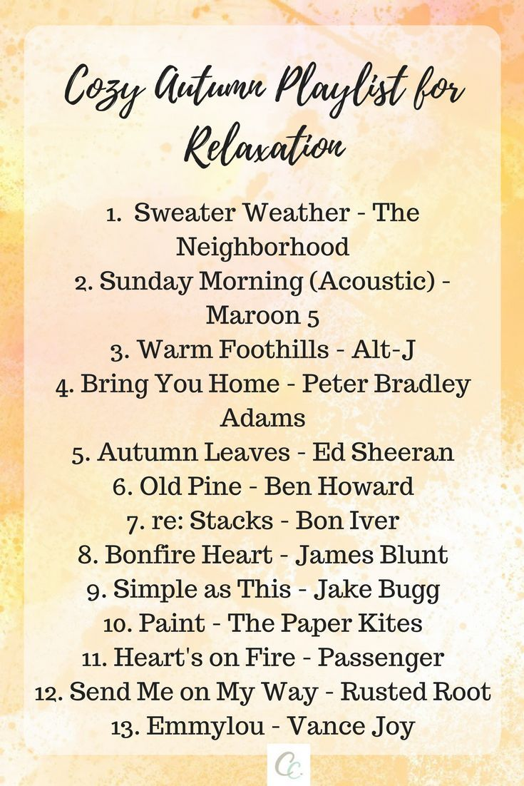 Cozy Autumn Playlist for Relaxation