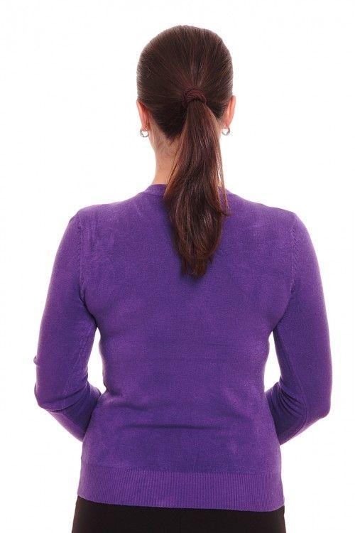 Пуловер А0446 Размеры: 44 Цвет: фиолетовый Цена: 300 руб.  http://optom24.ru/pulover-a0446/