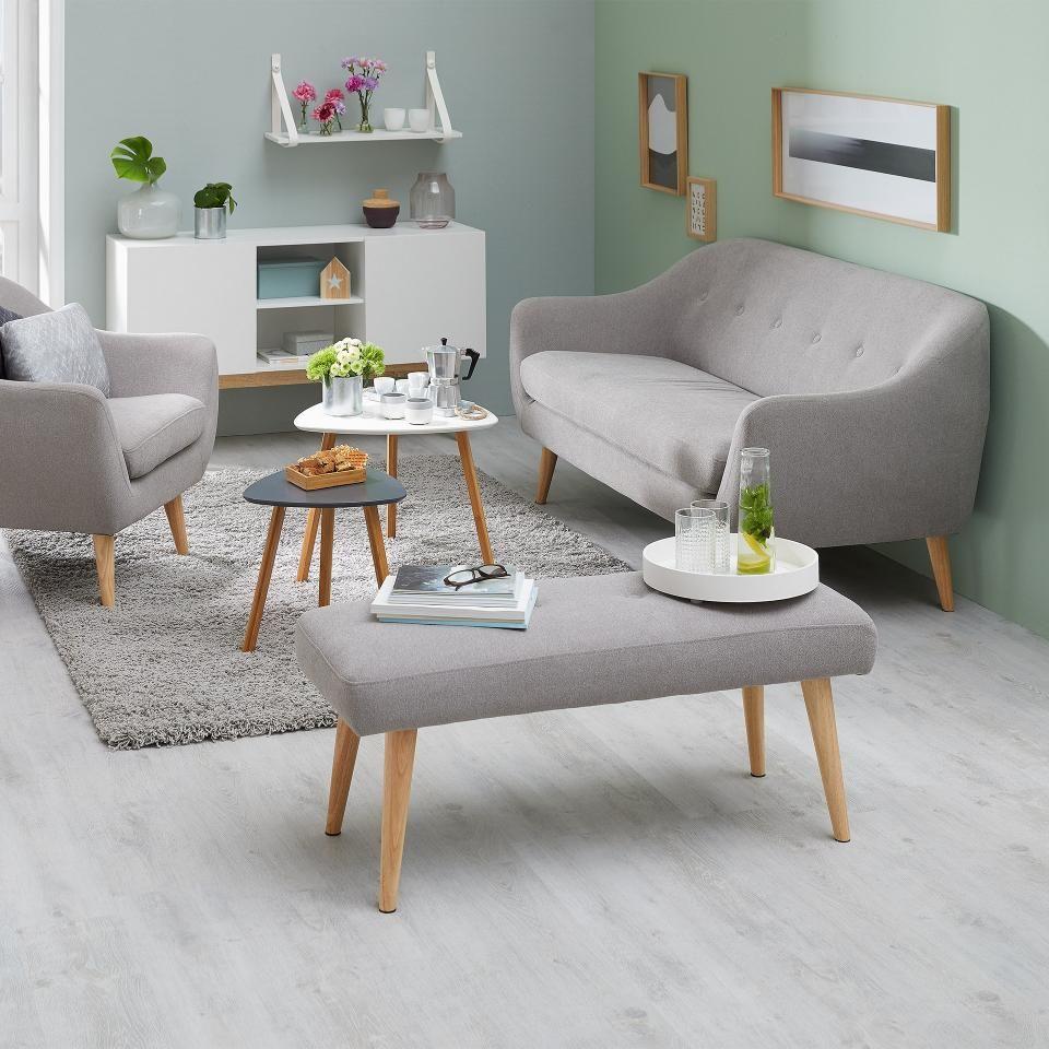 Banc egedal rembourr gris bancs meubles de salle manger cuisine meubles jysk for Salle a manger jysk