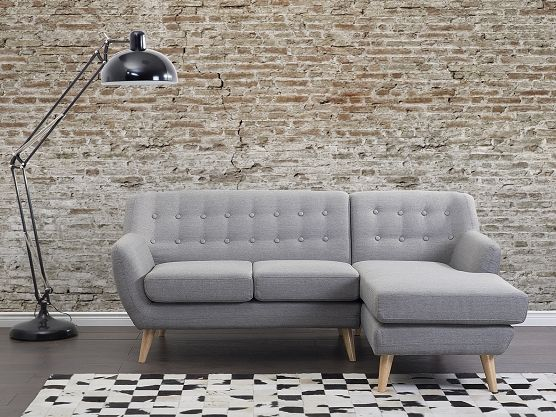 Ecksofa Polsterbezug hellgrau linksseitig MOTALA Sofa hellgrau - sofa kleines wohnzimmer