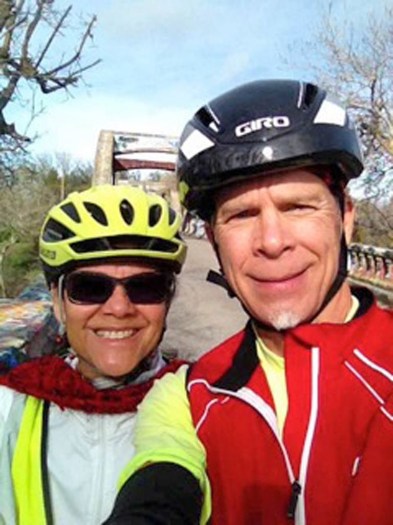 Maria and Mark Tebbutt enjoy riding their bicycles together and staying active. Courtesy photo. #Bikes #Cycling See their love story at: http://www.davisenterprise.com/local-news/the-story-of-mark-and-maria/