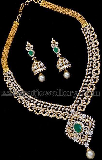 Medium Size Diamond Necklace2 Jpg 457 600 Pixels Gold Necklace Designs Diamond Necklace Designs Gold Earrings Designs