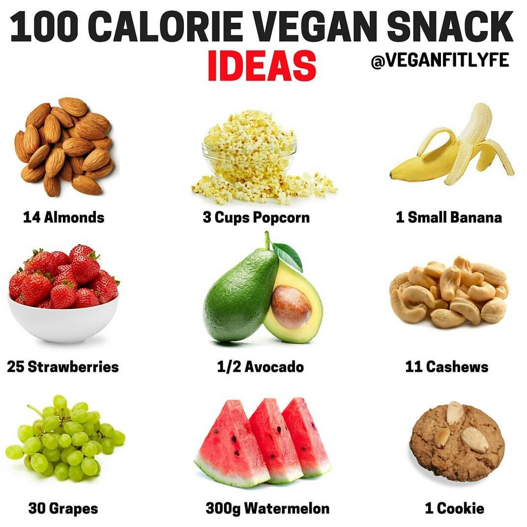 Vegan Fit Life On Instagram 100 Calorie Vegan Snacks Tag A Friend Who Would Like To See This Follow Vegan Snacks 100 Calorie Meals No Calorie Snacks