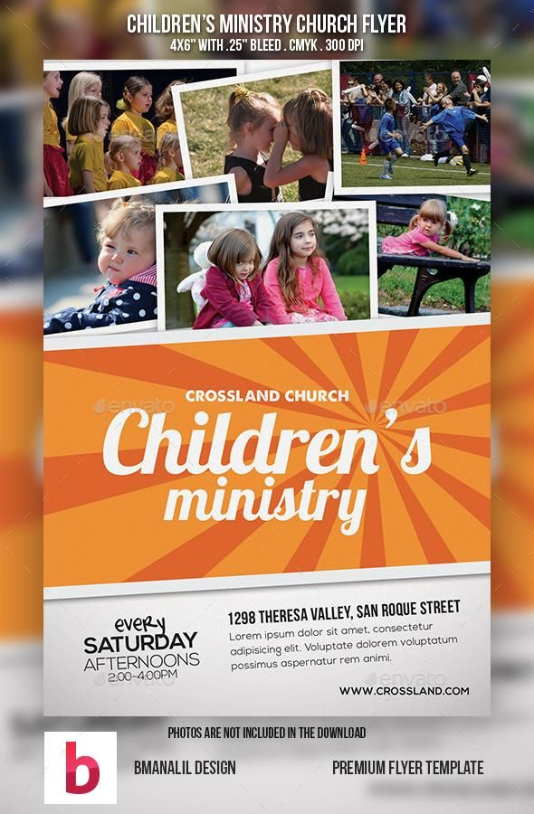 ChildrenS Ministry Church Flyer  Churches And Children Ministry