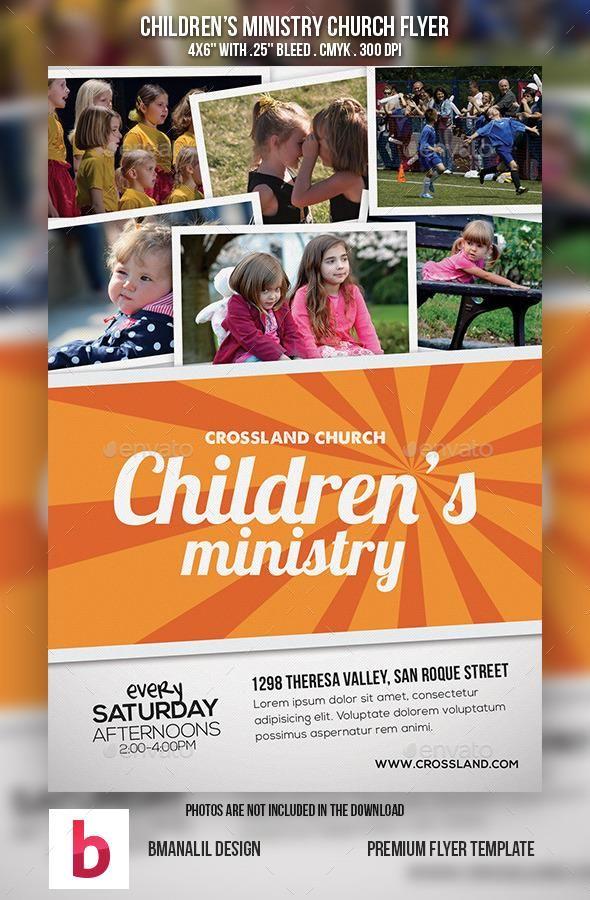 children u0026 39 s ministry church flyer