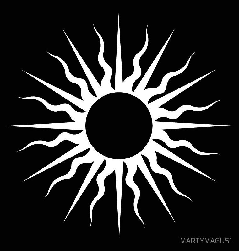 The Dark Rising Sun By Martymagus1 Abstract Canvas By Marty Magus