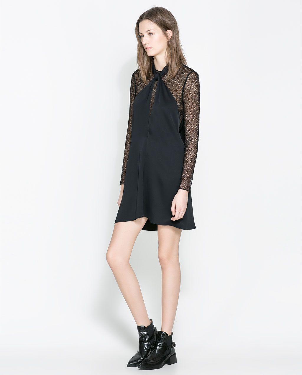 ZARA - WOMAN - STUDIO BOW NECK DRESS