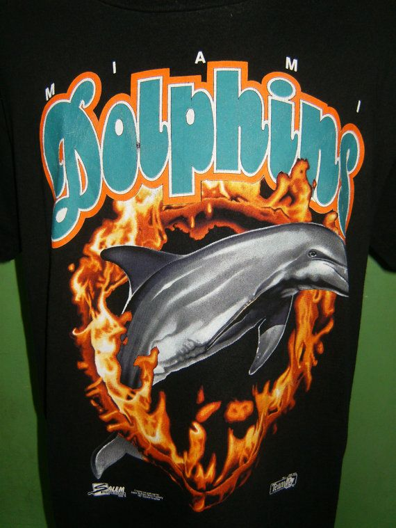 new arrival 74747 71303 Vintage Black T Shirt Miami Dolphins From Salem by ...