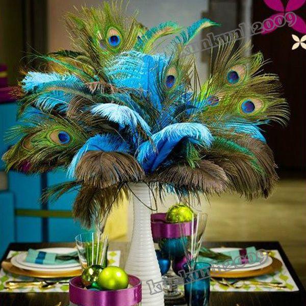 Lot De 10 Plumes De Paon Decoration Floral Peacock Pavo Masque Déguisement Fête Decoration Florale Decoration Idées De Mariage