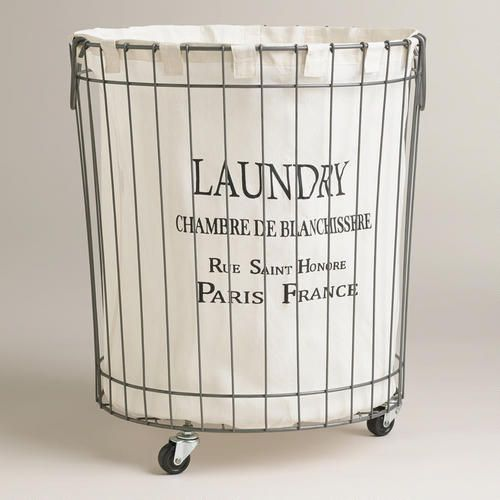 Claudette Wire Hamper Laundry Basket On Wheels Laundry Hamper