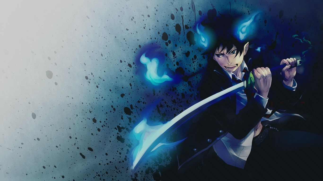 Blue Exorcist Rin Demon Form Wallpapers Hd Blue Exorcist Rin