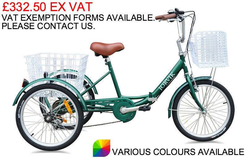 JORVIK 20″ FOLDING FRAME TRIKE ADULTS CHILDS OR TEENS CARGO TRICYCLE ...