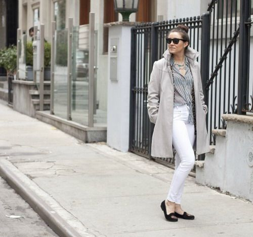 What To Wear With White Jeans For Women Plain white jeans