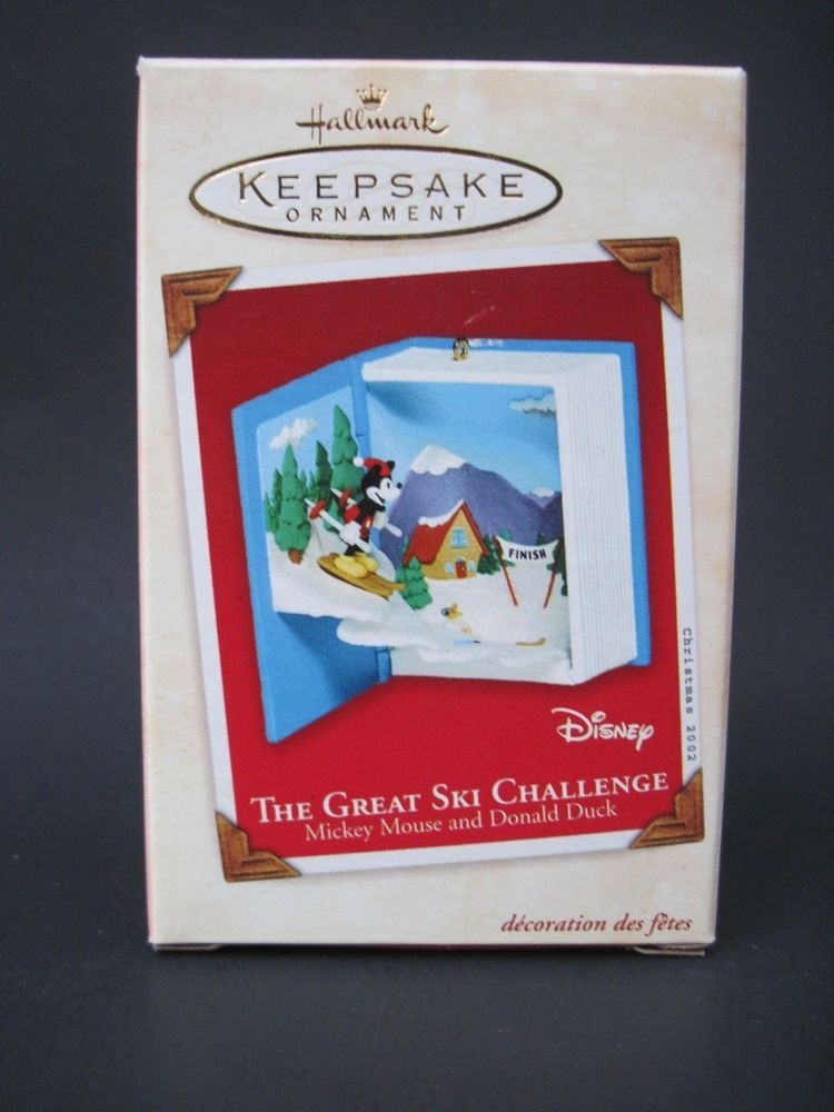 Hallmark Keepsake Ornament Mickey Mouse & Donald Duck Great Ski Challenge Skiing