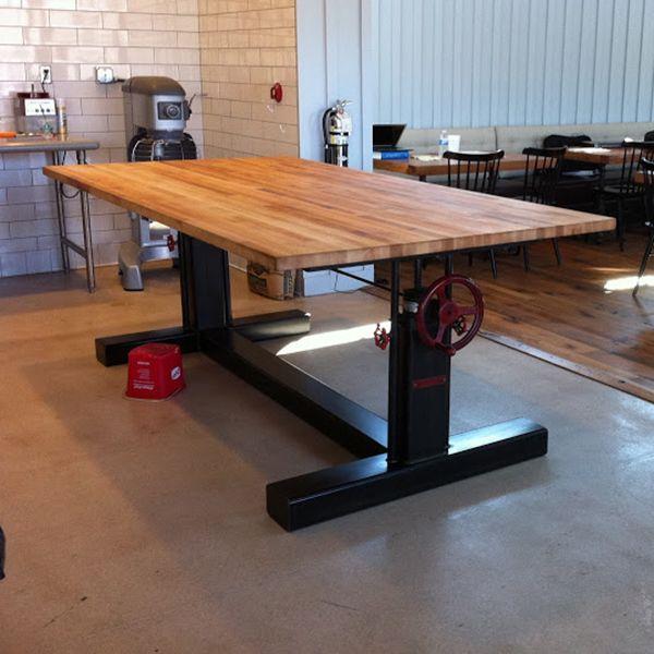 Crank Table Base | Vintage Industrial Furniture