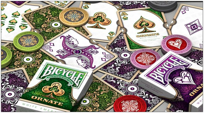 Ornate Sapphire 1st Edition Deck of Playing Cards from House of Playing Cards