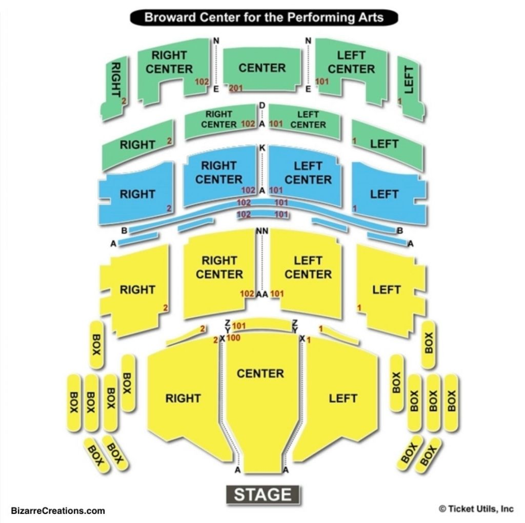 Broward Center For The Performing Arts Seating Chart In 2020 Seating Charts Broward Performance Art
