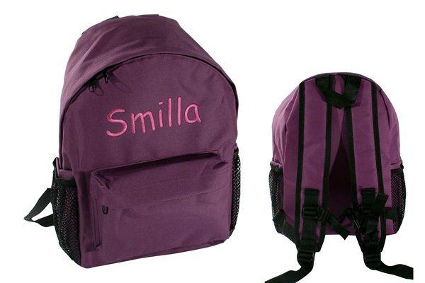 Ryggsäck till barn med namn – lila Lilac 4ad5491faa46f